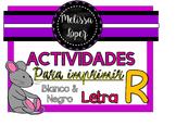 ACTIVIDADES PARA IMPRIMIR LETRA R