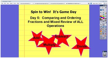 ACTIVINSPIRE FLIPCHART Fractions All Operations Real Life Word Problems