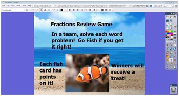 ACTIVINSPIRE FLIPCHART Fractions All Operations Real World Problems Test Prep