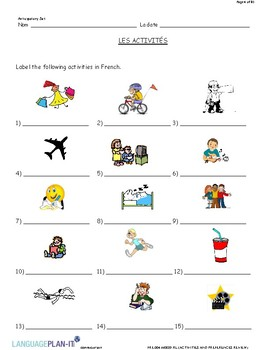 ACTIVITIES AND PREFERENCES REVIEW (FRENCH)