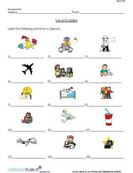 ACTIVITIES AND PREFERENCES REVIEW (SPANISH)