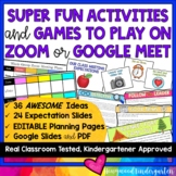 36 AWESOME ACTIVITIES & GAMES to use with ZOOM or Google M