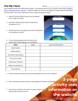 ACTIVITY - How Big is Space?