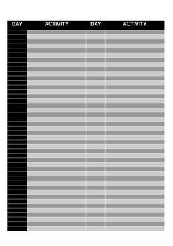 ACTIVITY CHART - WORD - EDITABLE