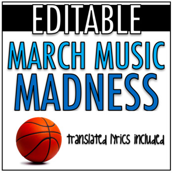 ACTIVITY: **EDITABLE** March Music Madness Bracket