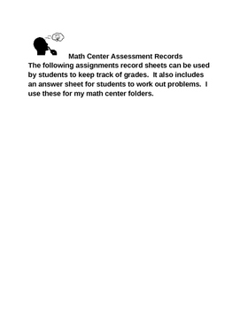 ACTIVITY GRADE SUMMARY AND ANSWER SHEET TEMPLATE