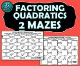 ACTIVITY MAZES INB - Algebra - Factoring Quadratics