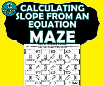 ACTIVITY MAZE INB - Algebra - Slope from an Equation