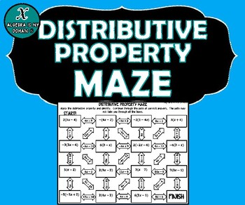 INB ACTIVITY MAZE  - Distributive Property