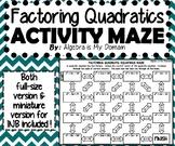 ACTIVITY MAZE INB - Algebra - Factoring Quadratics