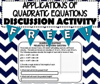 ACTIVITY - Quadratic Equations Projectile - INB
