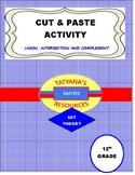 CUT & PASTE ACTIVITY - SET THEORY