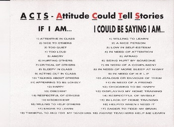 ACTS - Attitude Could Tell Stories