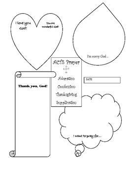 ACTS Prayer Journal Sheet