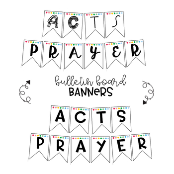 ACTS Prayer Model Posters