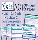 ACTS Prayer Model - Worksheets and Classroom Posters