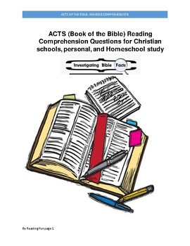 Book of the Bible: Acts - Reading Comprehension questions