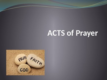 ACTS of Prayer for Children, Teens, and Adults