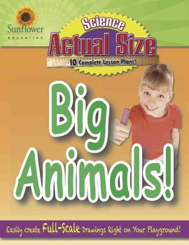 ACTUAL SIZE—SCIENCE: BIG ANIMALS! Great Playground Activities for Summer School!