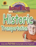 ACTUAL SIZE—SOCIAL STUDIES: Historic Transportation