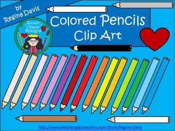 A+Clip Art: Colored Pencils