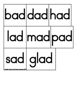 AD Family Sentence Builders