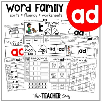 AD Word Family Activities