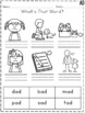 AD Word Family Activities and Worksheets *NO PREP*