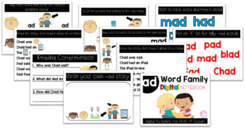 AD Word Family Digital Notebook