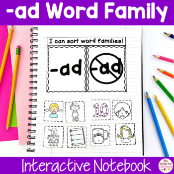 AD Word Family Interactive Notebook