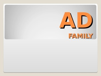 AD Word Family PowerPoint
