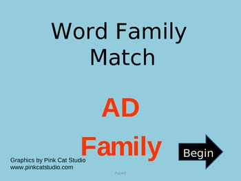AD Word Family Powerpoint Game
