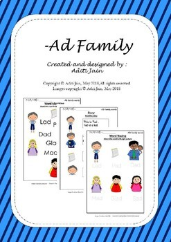AD family words Colored