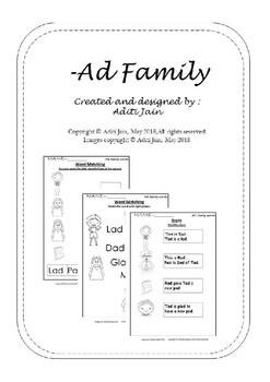 AD family words_Black & White