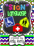 Real World Text, Informational Text, Public Signs, Life Skills, ADA Signs