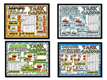 LITERACY TASK CARDS for EVERY SEASON- BUNDLE PACK