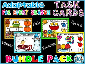 ADAPTABLE literacy TASK CARDS for EVERY SEASON- BUNDLE PACK