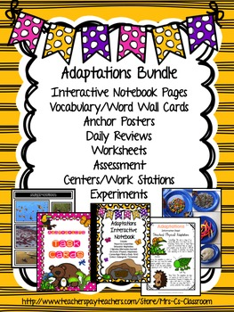 ADAPTATIONS - Behavioral / Structural (Physical) BUNDLE - Science