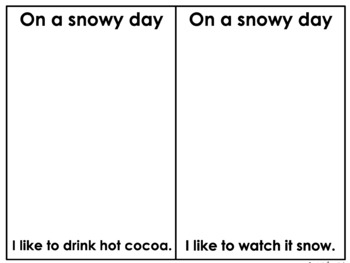 INTERACTIVE BOOK: A SNOWY DAY