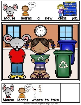 BACK TO SCHOOL ADAPTED BOOK-Class Jobs (PreK-2/SPED/ELL)