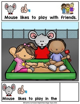 BACK TO SCHOOL ADAPTED BOOK-Recess (PreK-2/SPED/ELL)