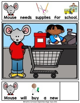BACK TO SCHOOL ADAPTED BOOK-Supplies (PreK-2/SPED/ELL)