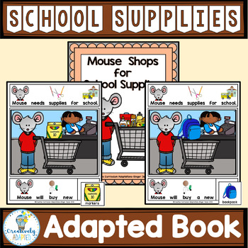 ADAPTED BOOK-Back to School Supplies (PreK-2/SPED/ELL)