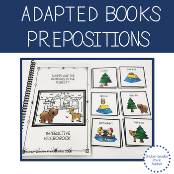 ADAPTED BOOK PREPOSITIONS WITH FOREST ANIMALS