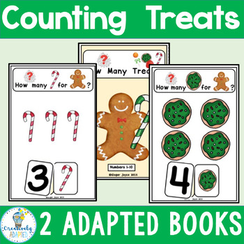 ADAPTED BOOK-Gingerbread Counting (Autism/Special Ed/ELL)
