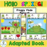 ADAPTED BOOK-Hello Spring Frog (PreK-2/SPED/ELL) #springsavings