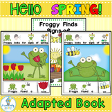 Interactive Adapted Book Spring Frog