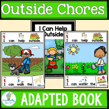 ADAPTED BOOK-I Can Help-Jobs and Chores Outside  (PreK-2/S