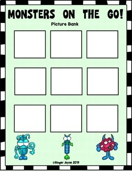 ADAPTED BOOK-Monsters (PreK-K/Autism/Special Education)