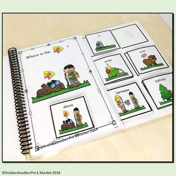 ADAPTED BOOK PREPOSITIONS BUTTERFLY THEME
